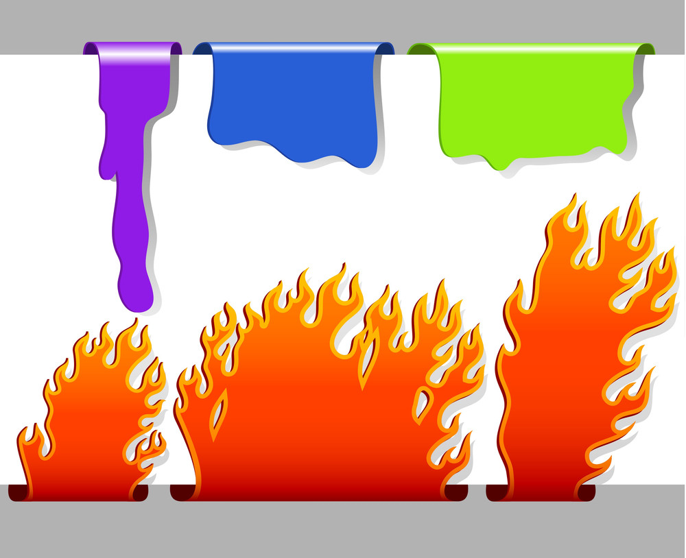 Dripping And Burning Vector Bookmarks.