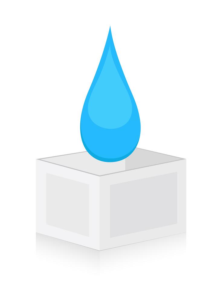 Drop On Box Vector