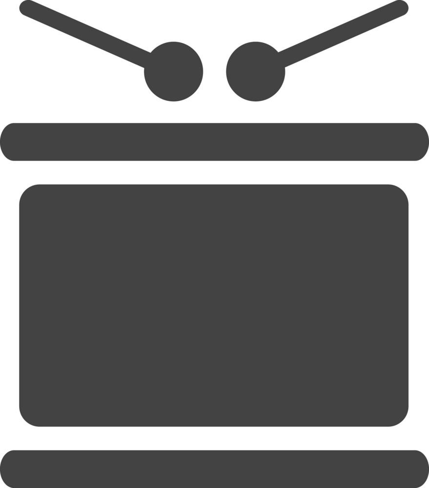 Drum Glyph Icon