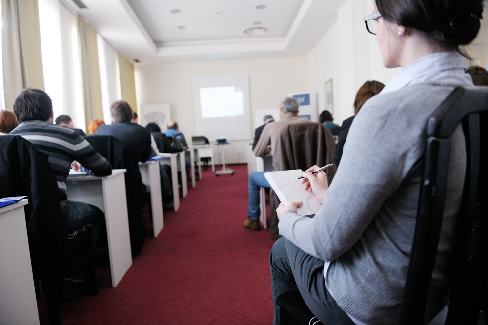 Business people group on seminar