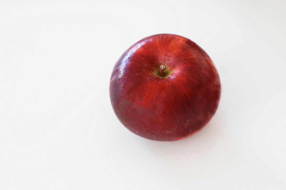 Isolated Red Apple On White Background