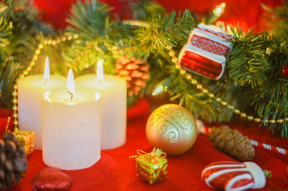 Christmas Ornament And Candles