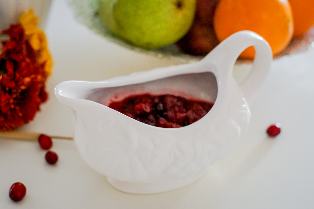 Cranberry Sauce In A White Cup