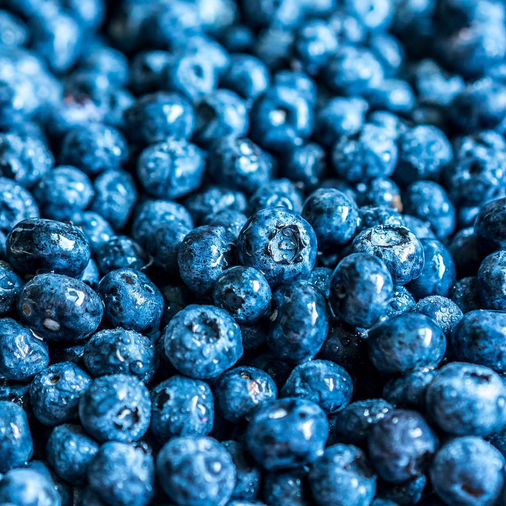 Closeup Of Fresh Blueberries