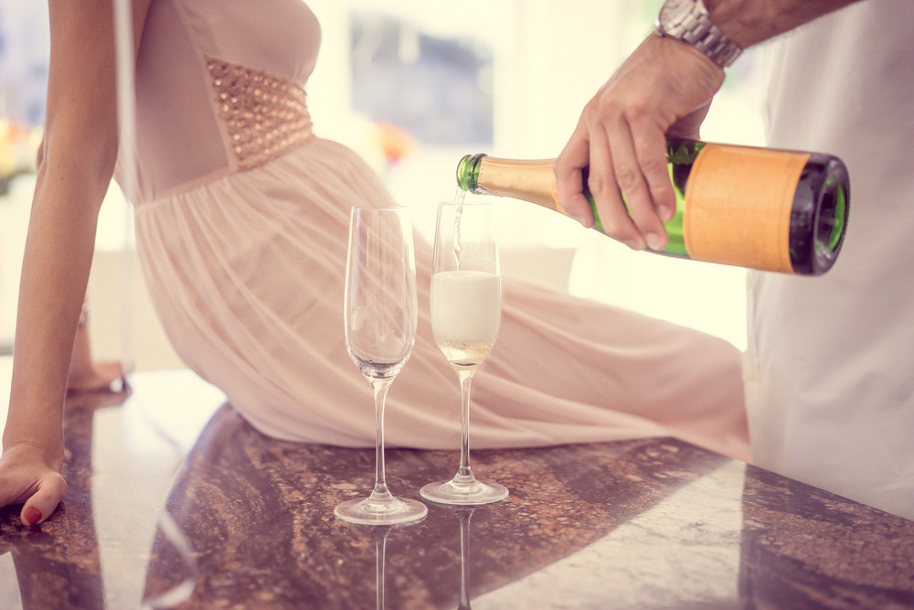 Drinking Champagne