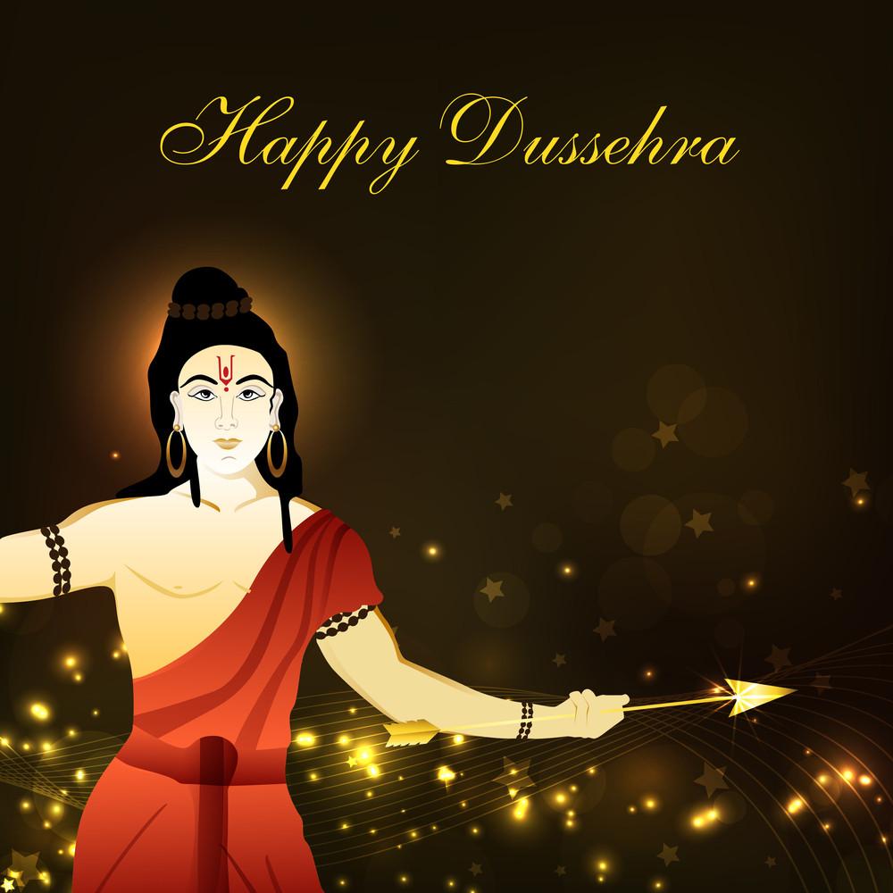 Dussehra Festival Background With Hindu God Shri Rama.