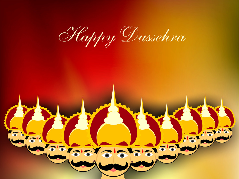 Dussehra Festival Background.