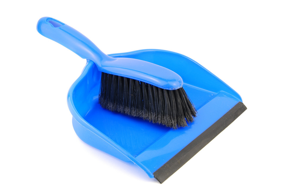 Dustpan And Brush On White