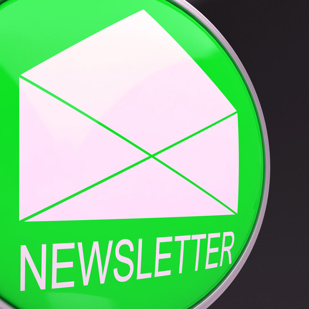 E-mail Newsletter Shows Electronic Sending Of News