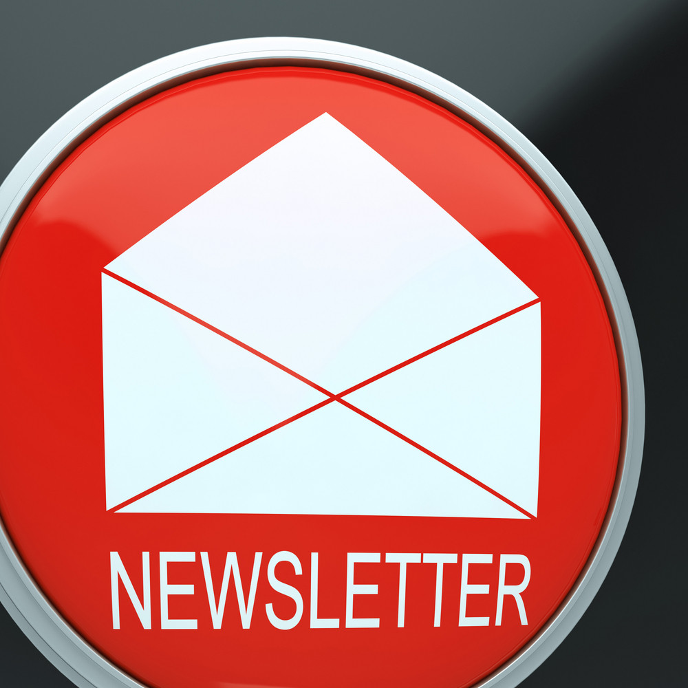 E-mail Newsletter Shows Email Letter Communication