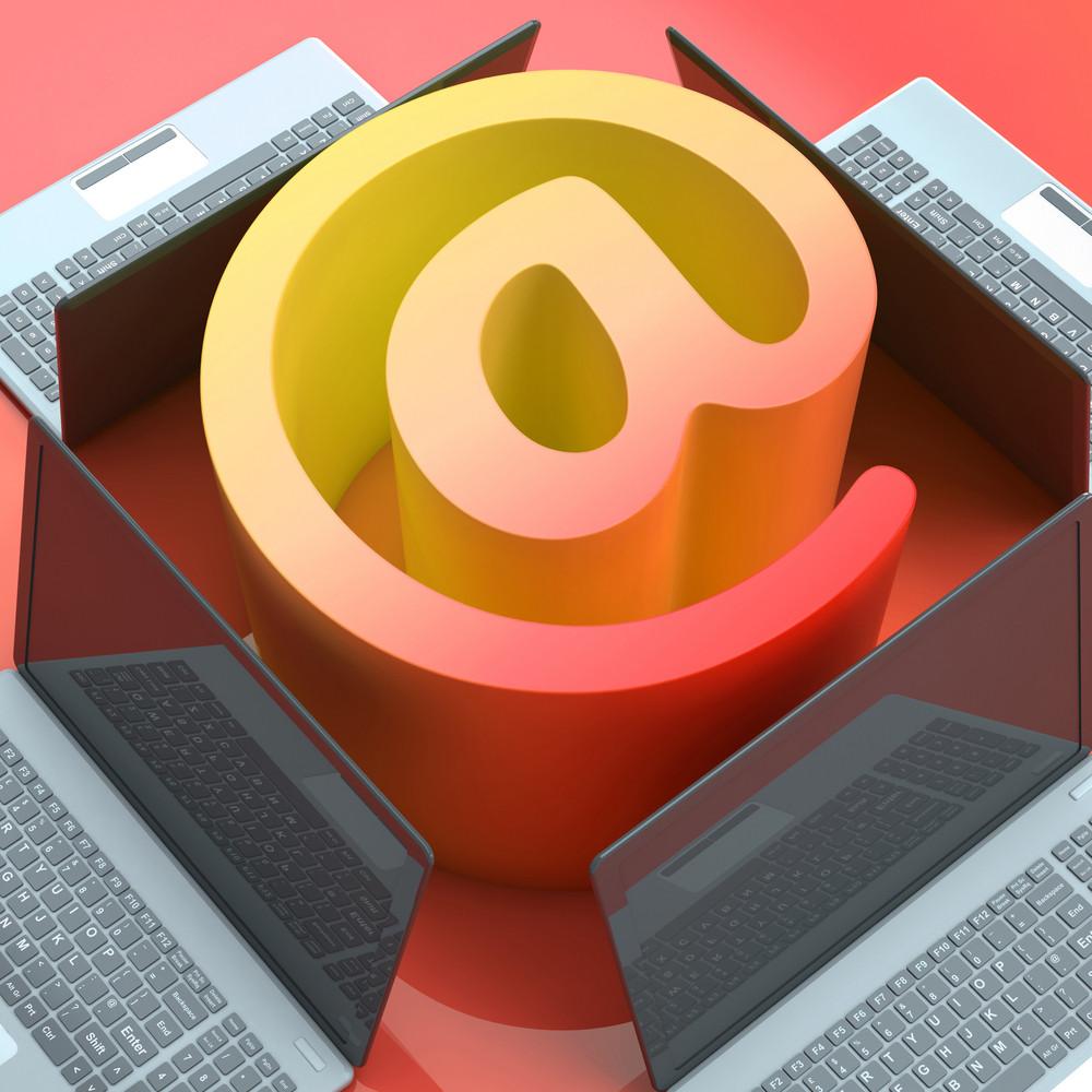 E-mail Symbol Laptops Shows Online Mailing Communication