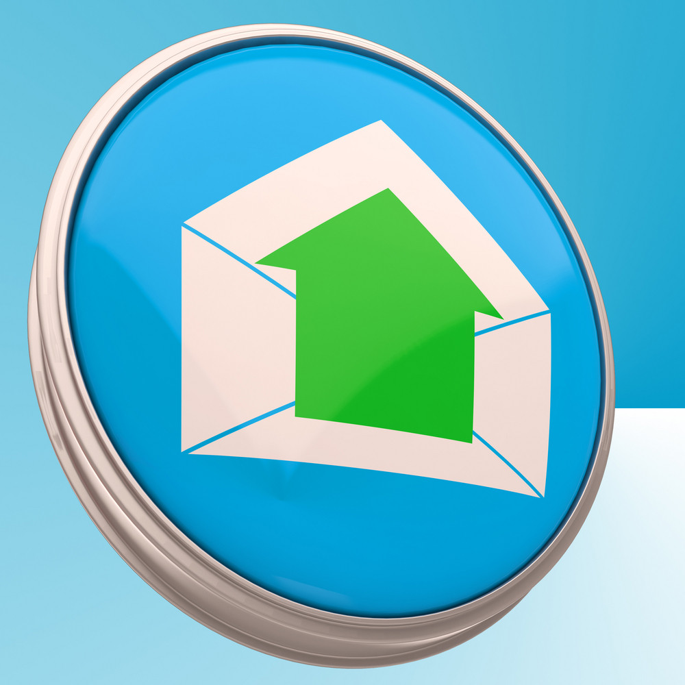 E-mail Symbol Shows Outgoing Electronic Mail