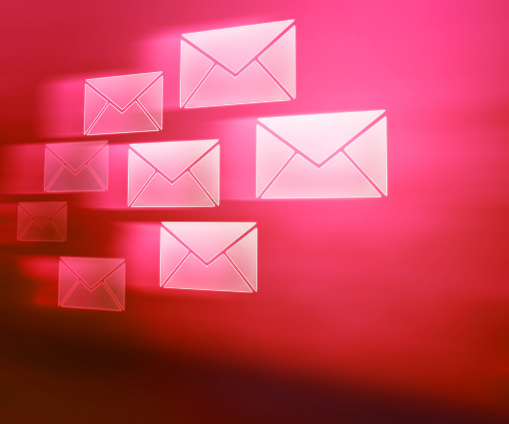 E-mails Red Abstract Background