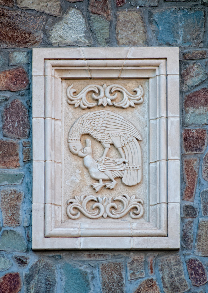 Eagle Hunting Relief On Wall Of Kykkos Monastery