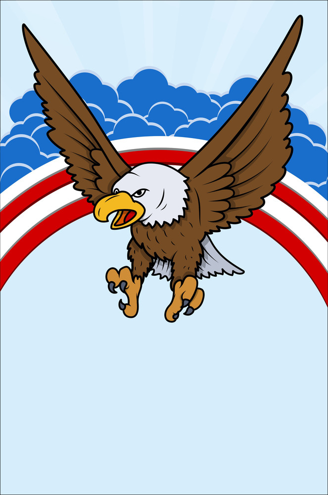 Eagle Usa Independence Day Vector Theme Design