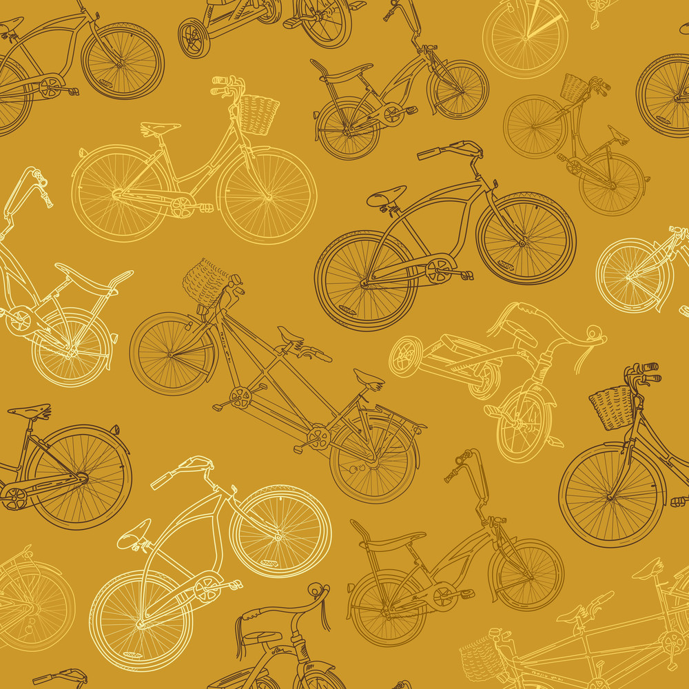 Eamless Bicycle Background