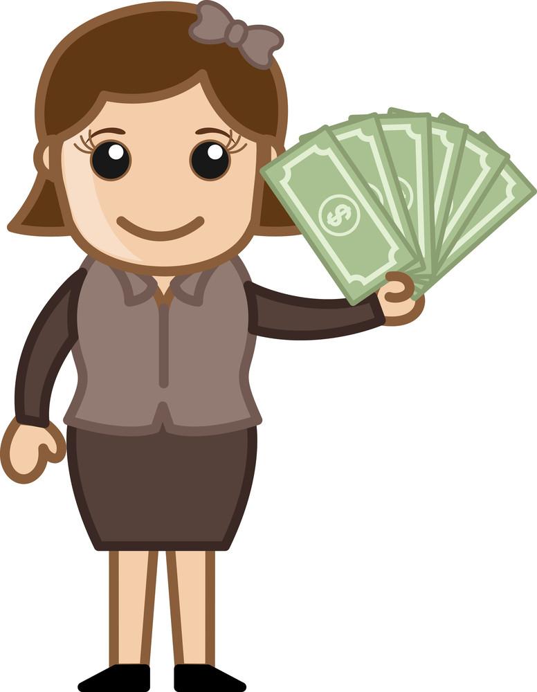 Earn Cash - Business Cartoon Vectors