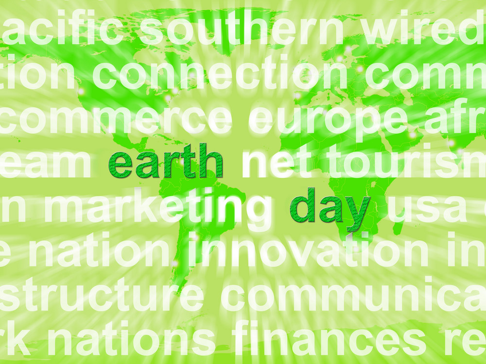 Earth Day Words Showing Environmental Concern And Conservation