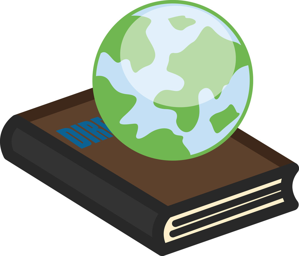 Earth On Book - Office Character Vectors