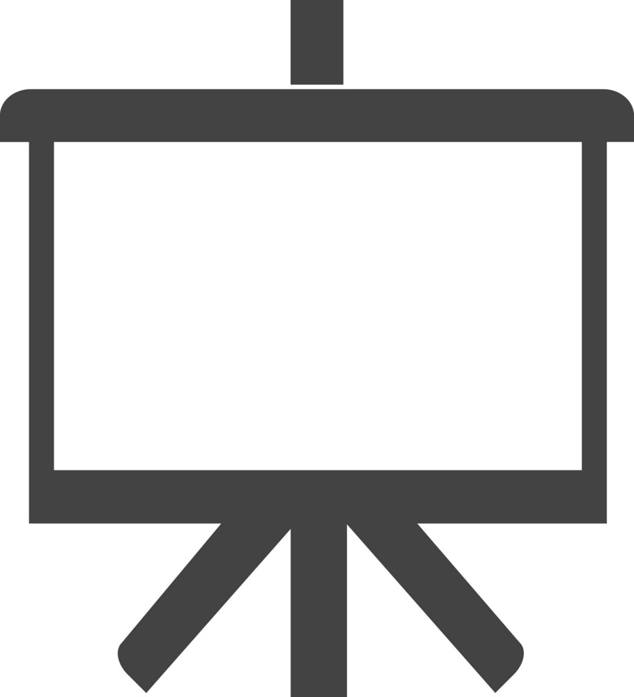 Easel Glyph Icon