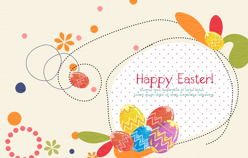 Easter Background Vector Illustration