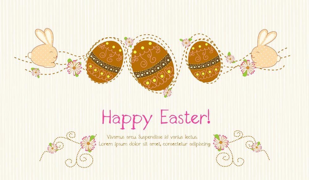 Easter Background Vector Illustration