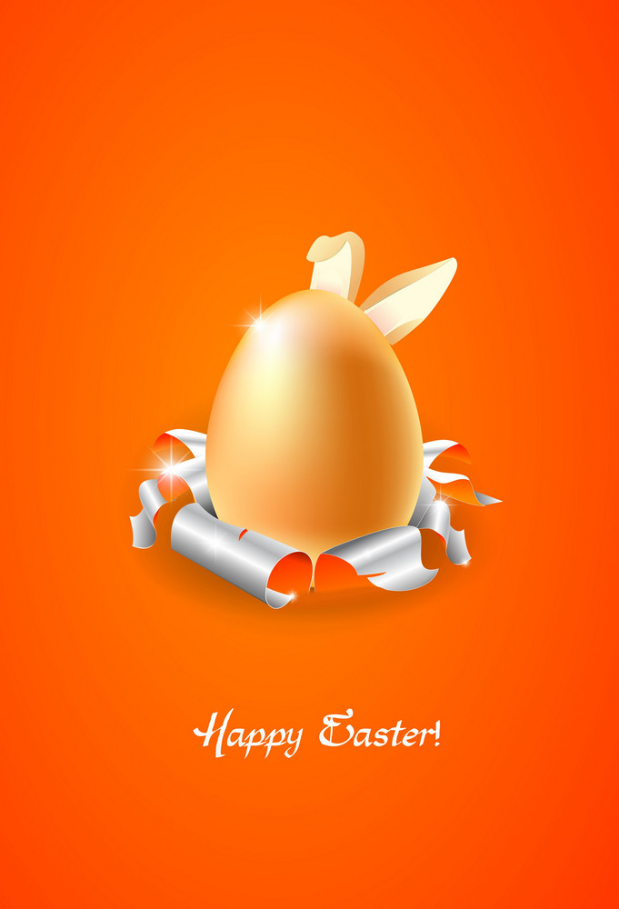 Easter Background With Egg Vector Illustration
