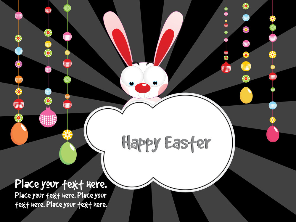 Easter Background With Sample Text