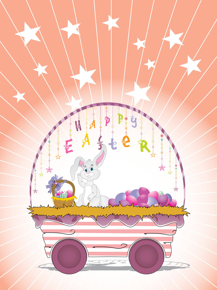 Easter Bunnie In The Basket