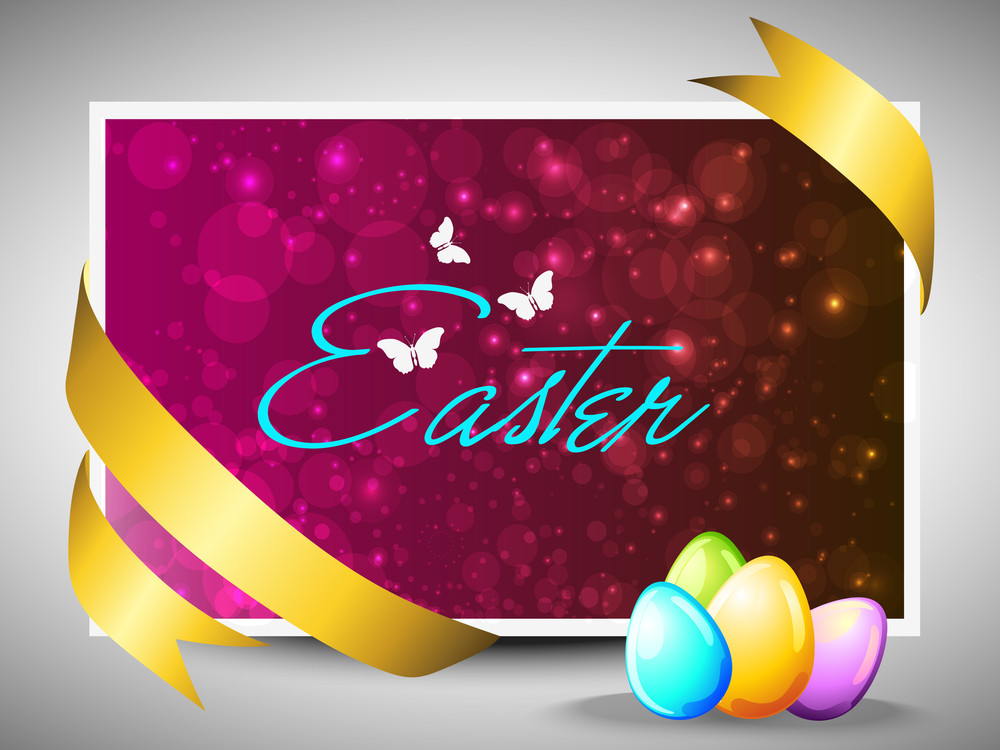 Easter Colorful Eggs Greeting