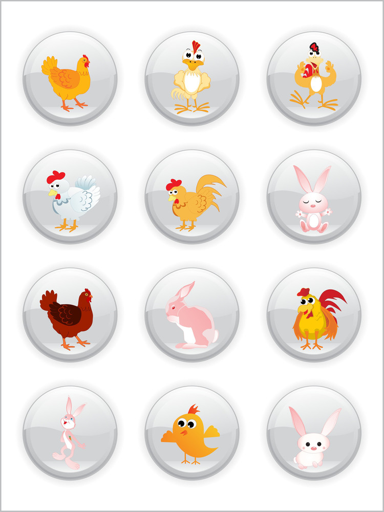 Easter Day Icons With Background
