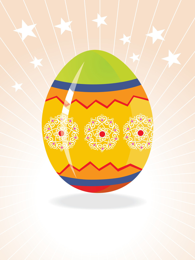Easter Egg Background With Creative Design