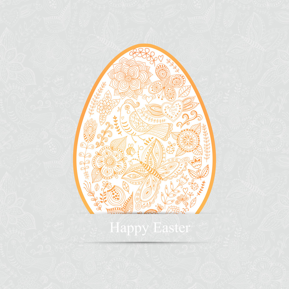 Easter Egg Made Of Flowers