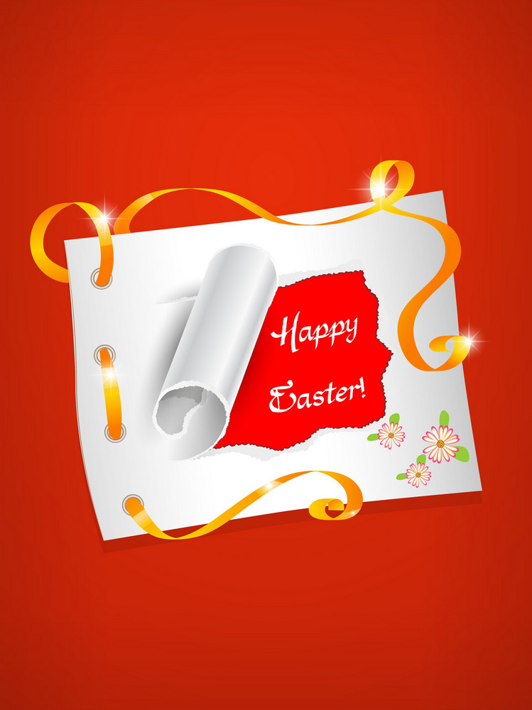 Easter Frame Vector Illustration