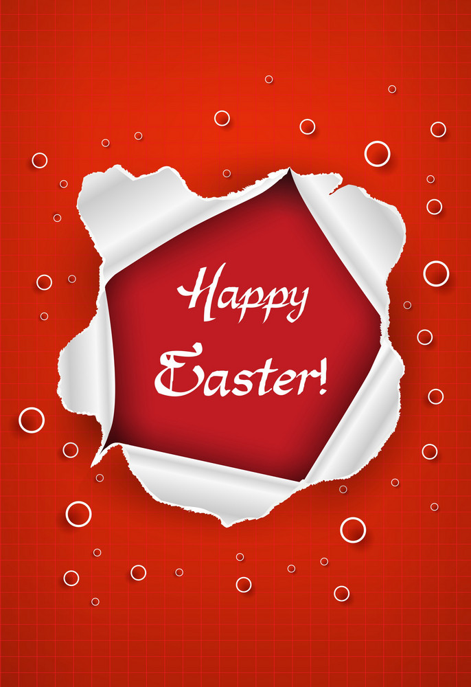Easter Frame Vector Illustration