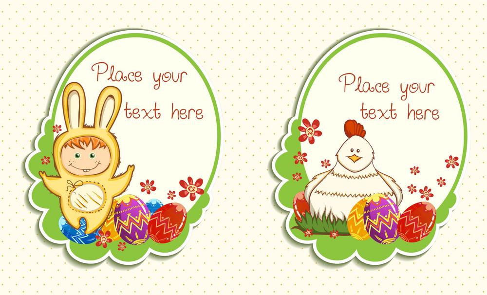 Easter Frames Vector Illustration