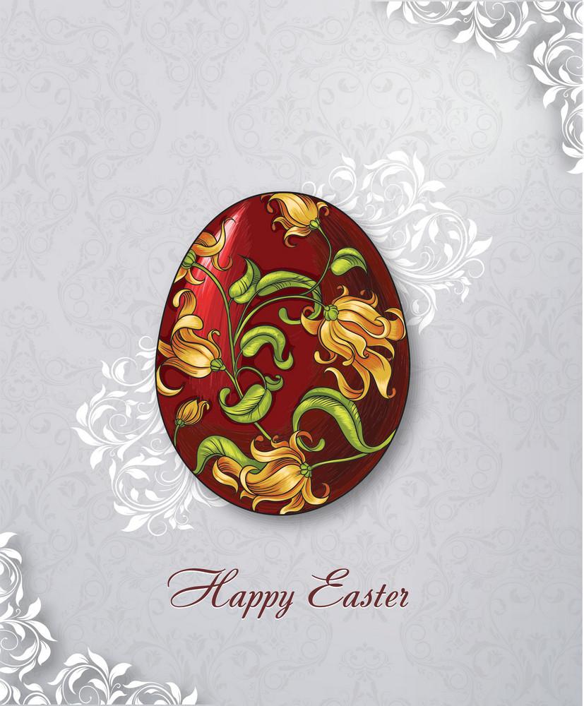 Easter Illustration With Easter Egg