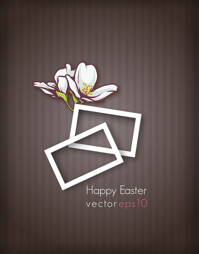 Easter Vector Illustration With Easter Floral And Frames