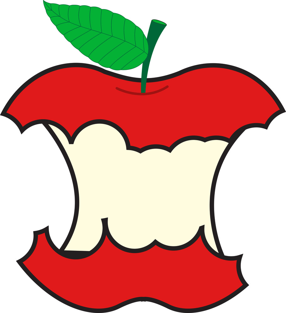 Eat Apple Vector