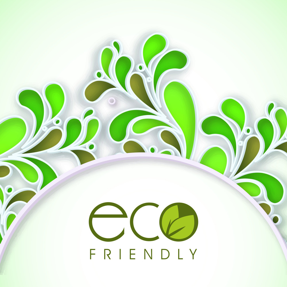 Eco Friendly Concept With Beautiful Floral Design Made By Green Leaves And Space For Your Text.