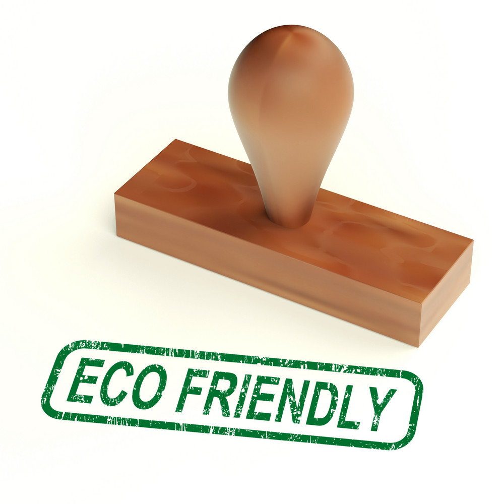 Eco Friendly Stamp As Symbol For  Recycling Or Nature