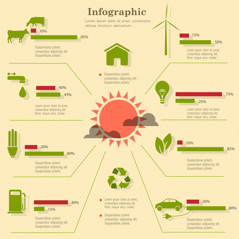 Eco Infographic Elements