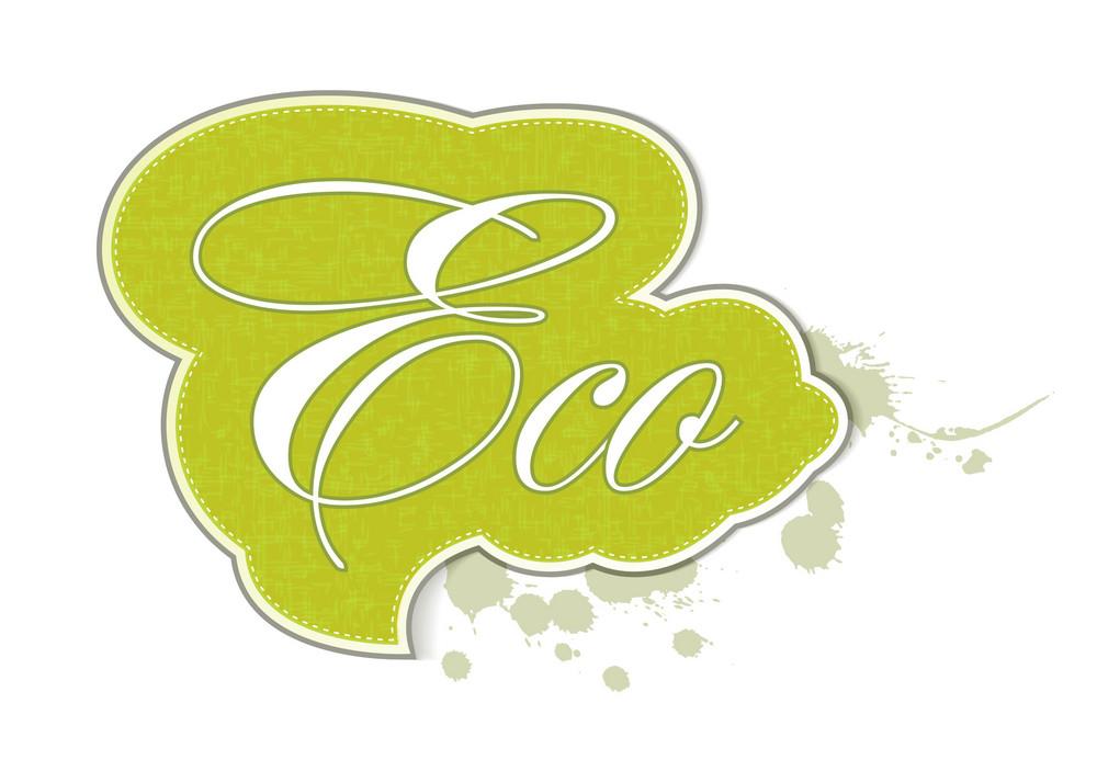 Eco Sticker Vector Illustration