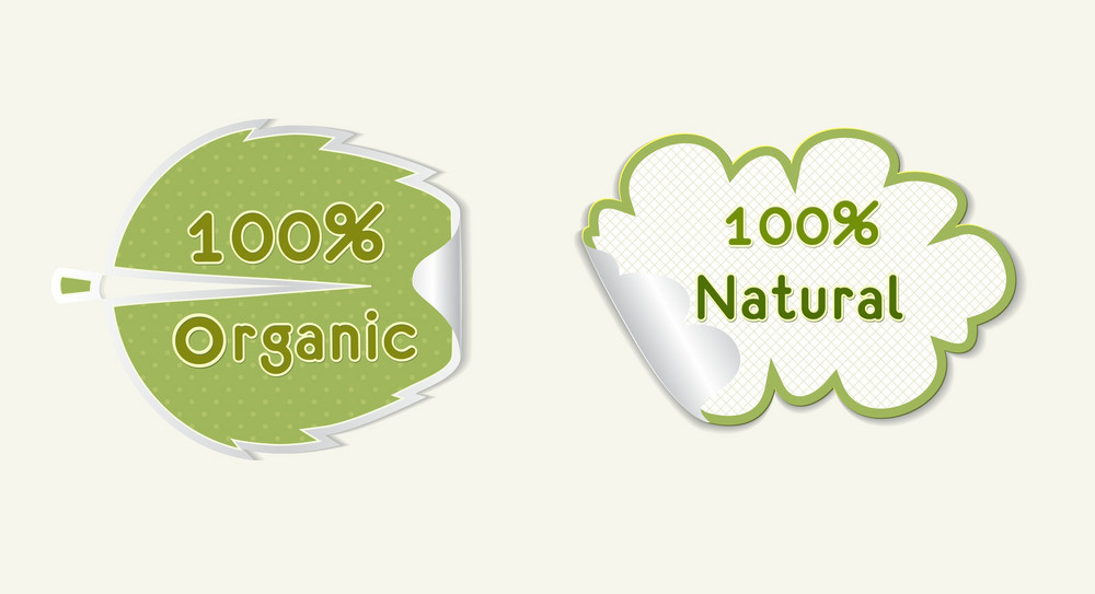 Eco Stickers Vector Illustration