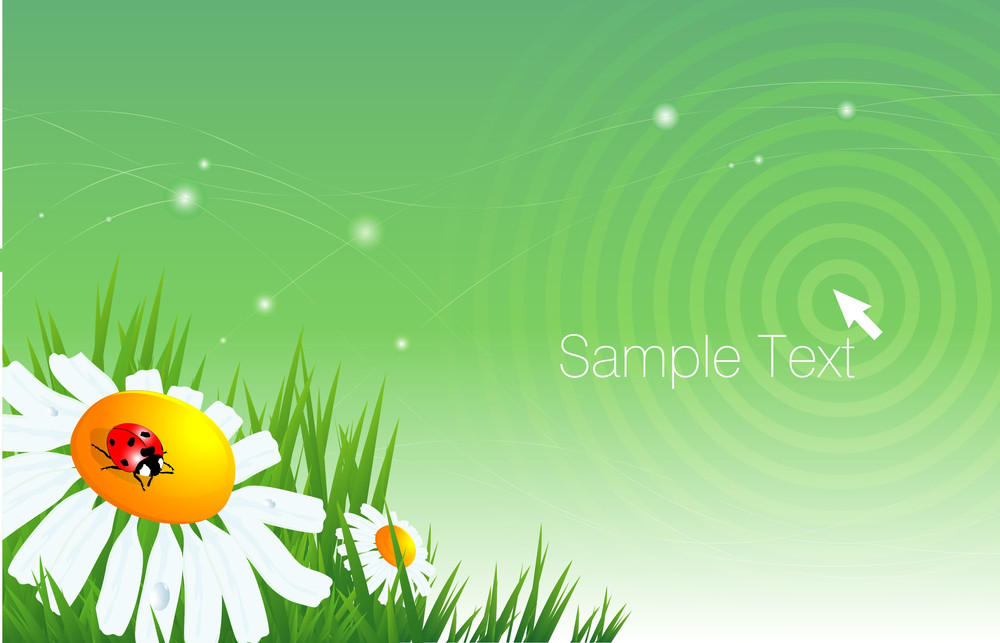 Ecological Abstract. Vector Background.