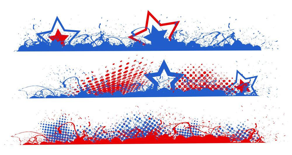 edge border patriotic usa theme vector royalty free stock image