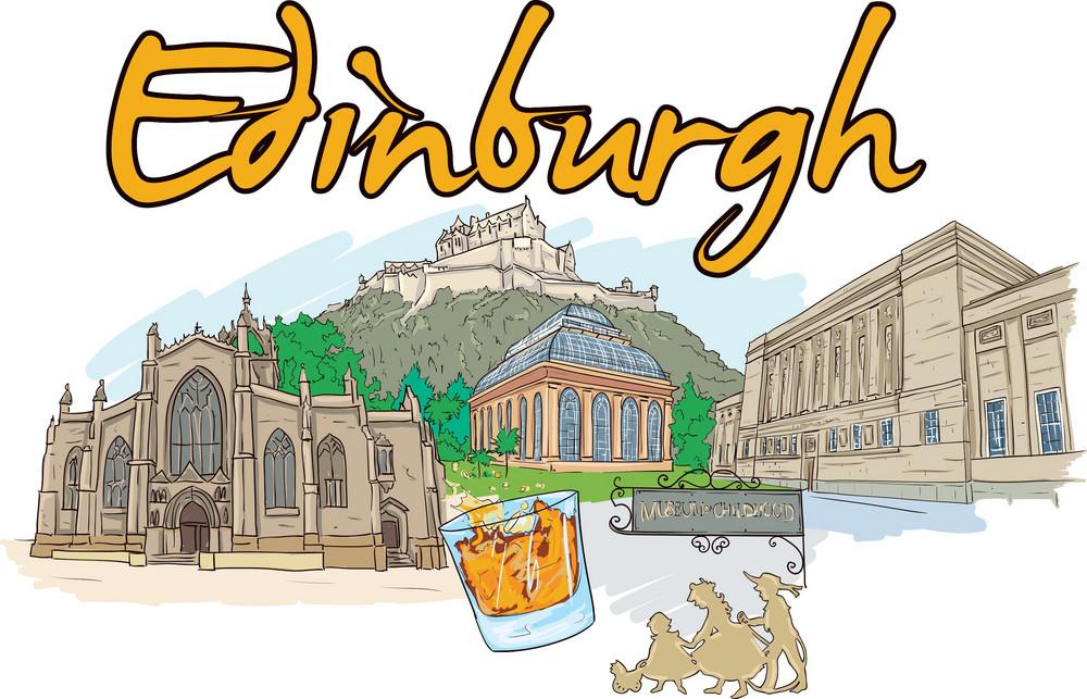 Edinburgh Vector Doodle