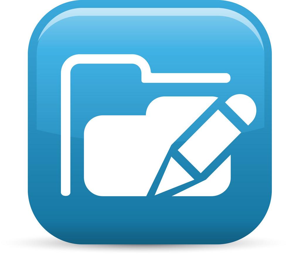 Edit Folder Elements Glossy Icon