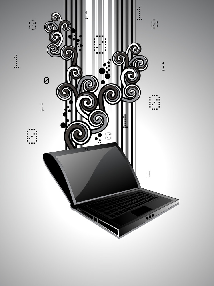 Education Background With Laptop