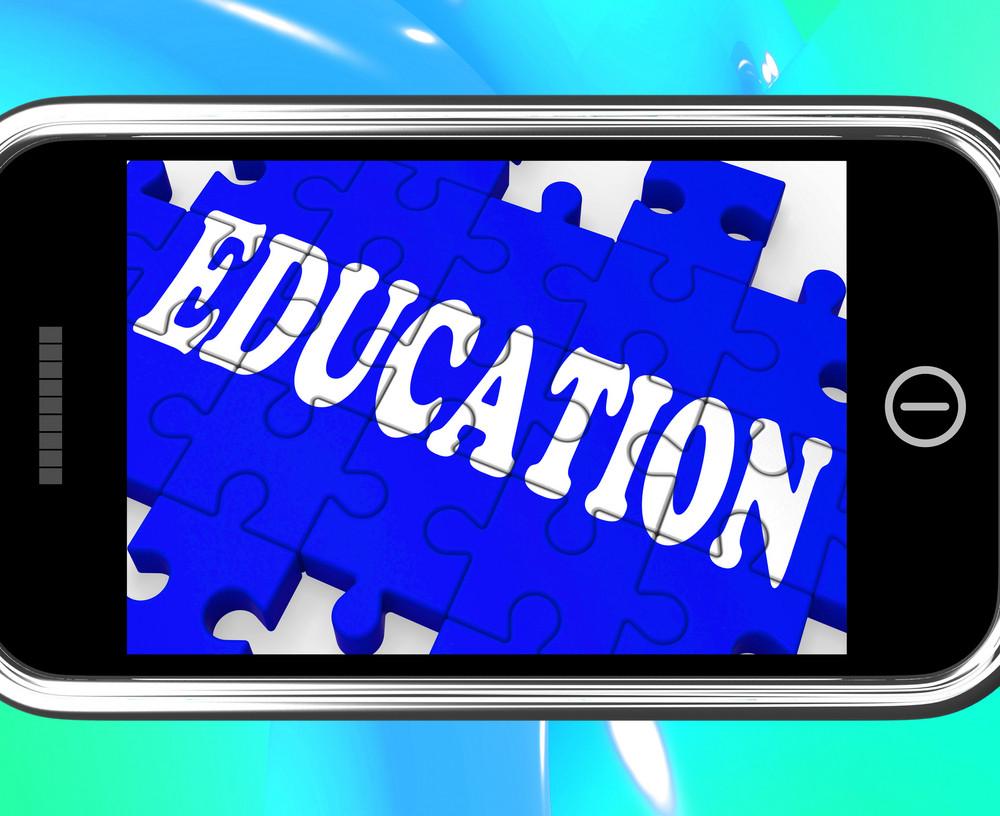 Education On Smartphone Showing University Studies